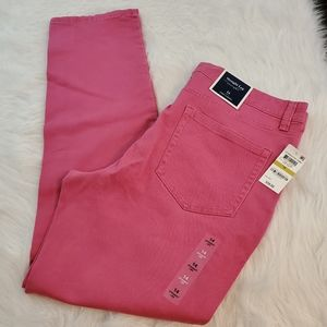 **Charter Club Sz 14 Pink Candy Straight Leg Jeans